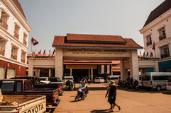 Marknad i Pakse Royaltyfria Foton