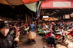 Marknad i Pakse Arkivbilder