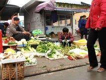 Marknad i porslin Royaltyfri Bild