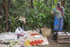 Marknad i Tanzania Arkivbilder