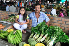 Marknad i Timana - Colombia Arkivbilder