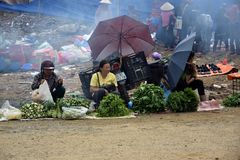 Marknad i Vietnam Royaltyfri Bild