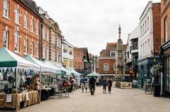 Marknad i WInchester royaltyfria foton
