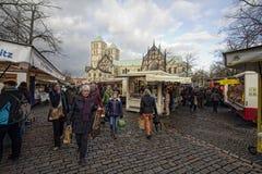 Marknad på de Munster Domna, Tyskland Arkivbild