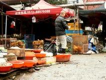 Marknad på gatan i Kina Arkivbilder