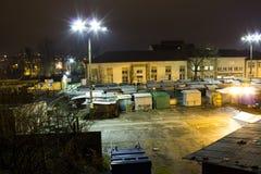 Marknad på natten Fotografering för Bildbyråer