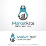 Marknad Rate Logo Template Design Vector, emblem, designbegrepp, idérikt symbol, symbol Royaltyfri Bild