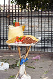 Marknad som säljer orientaliska ingredienser Royaltyfria Foton
