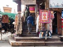 Marknaden på den Izmailovsky Kreml, Moskva arkivfoton