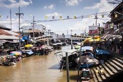 Marknaden på vattnet Fotografering för Bildbyråer