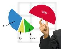 marknadsandel stock illustrationer