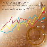 marknadsandel för affärsgraf vektor illustrationer
