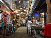 Marknadsföra 100 år på Chachoengsao, Thailand Arkivfoto