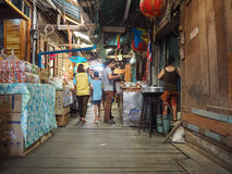 Marknadsföra 100 år på Chachoengsao, Thailand Arkivfoton