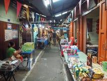 Marknadsföra 100 år på Chachoengsao, Thailand Arkivbild