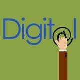 Marknadsföra i digitalt Arkivbild