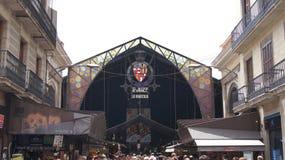 Marknadsföra La Boqueria Barcelona för St Josep Royaltyfria Bilder