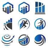 Marknadsföra och finansbegreppslogo Royaltyfri Foto