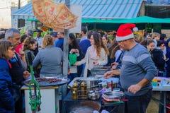 Marknadsföra platsen, delen av ferien av ferier i Haifa Royaltyfria Bilder