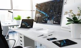 marknadsföring för svars- apparater för kontor digital vektor illustrationer