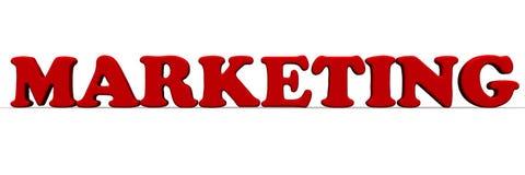 marknadsföring Rött ord stock illustrationer