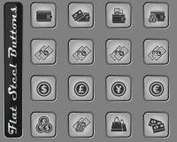 Marknadsförings- och e-kommers symbolsuppsättning vektor illustrationer