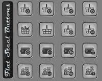 Marknadsförings- och e-kommers symbolsuppsättning royaltyfri illustrationer