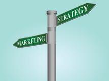 Marknadsförings- och strategigatatecken stock illustrationer