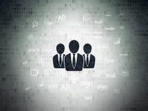 Marknadsföringsbegrepp: Affärsfolk på digitalt Royaltyfri Bild
