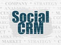 Marknadsföringsbegrepp: Samkväm CRM på väggbakgrund vektor illustrationer