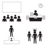Marknadsföringsman Icons2 Arkivfoto