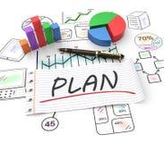 Marknadsföringsplanläggning Arkivfoton