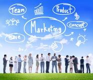 Marknadsföringsstrategi Team Business Commercial Advertising Concept Royaltyfri Fotografi