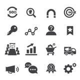 Marknadsföringssymbol royaltyfri illustrationer