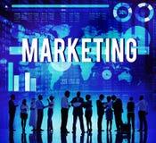Marknadsföra begrepp för data för analys för kommersiell affär Royaltyfri Bild