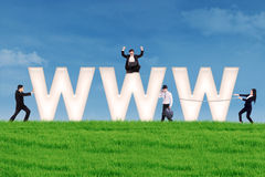 Marknadsföra begrepp för internet Royaltyfri Fotografi