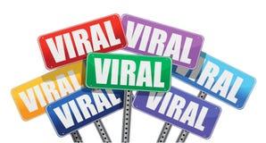 marknadsföringen för begreppsdesign undertecknar virus- Royaltyfria Bilder