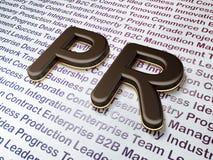 Marknadsföringsbegrepp:  PR på affärsbakgrund Royaltyfria Bilder