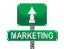 marknadsföringsteckenstrategi Arkivbilder