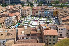 Marknadsfyrkant av Balaguer Royaltyfria Foton