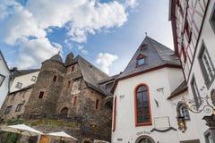Marknadsfyrkant i Beilstein på Mosellen Fotografering för Bildbyråer