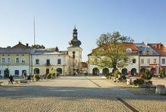 Marknadsfyrkant i Krosno poland Fotografering för Bildbyråer