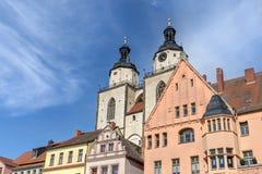 Marknadsfyrkant i Wittenberg fotografering för bildbyråer
