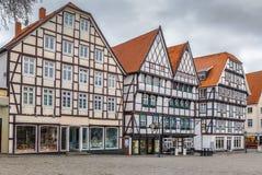 Marknadsfyrkant, Soest, Tyskland fotografering för bildbyråer