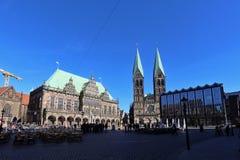 Marknadsfyrkanten av Bremen Royaltyfri Bild
