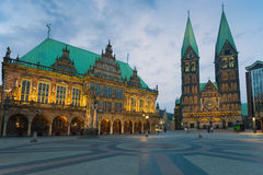 Marknadsfyrkanten i Bremen Royaltyfri Fotografi