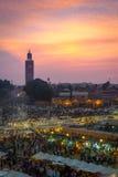 Marknadsplats av Marrakech Royaltyfri Foto