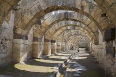 Marknadsplats av Smyrna från det 4th århundradet F. KR. Izmir Turkiet 2014 Royaltyfri Foto
