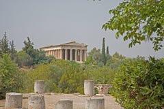 marknadsplats forntida athens Arkivbild