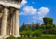 marknadsplats forntida athens greece Royaltyfri Bild